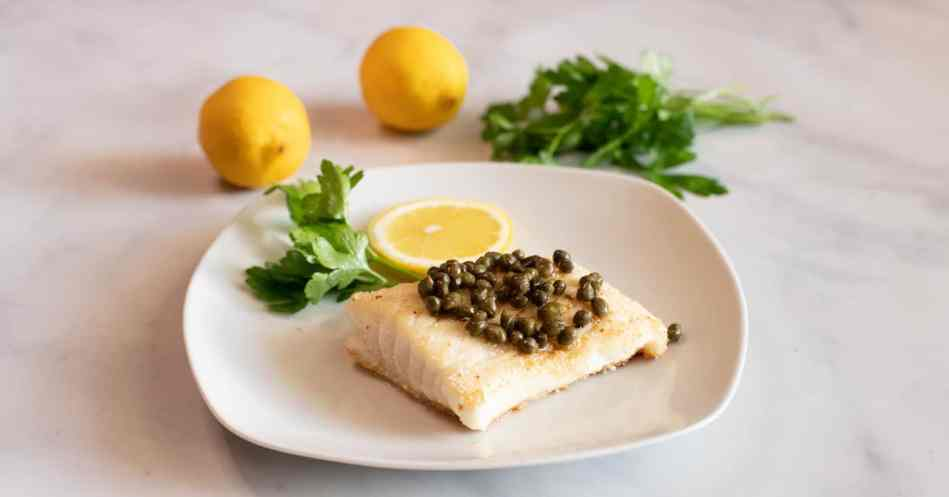 Crusted Halibut with White Wine and Caper Sauce •Cook Love Heal by Rachel Zierzow