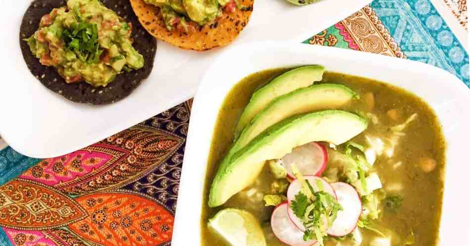 Pozole verde with tostadas