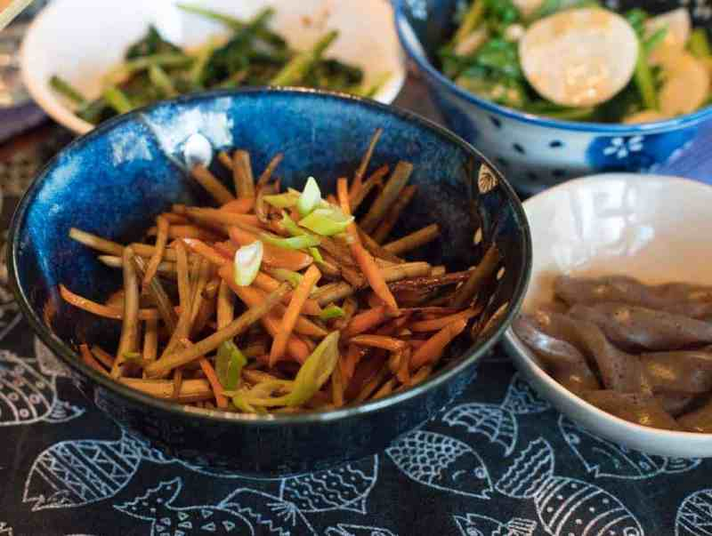 photo of kinpira root vegetable dish