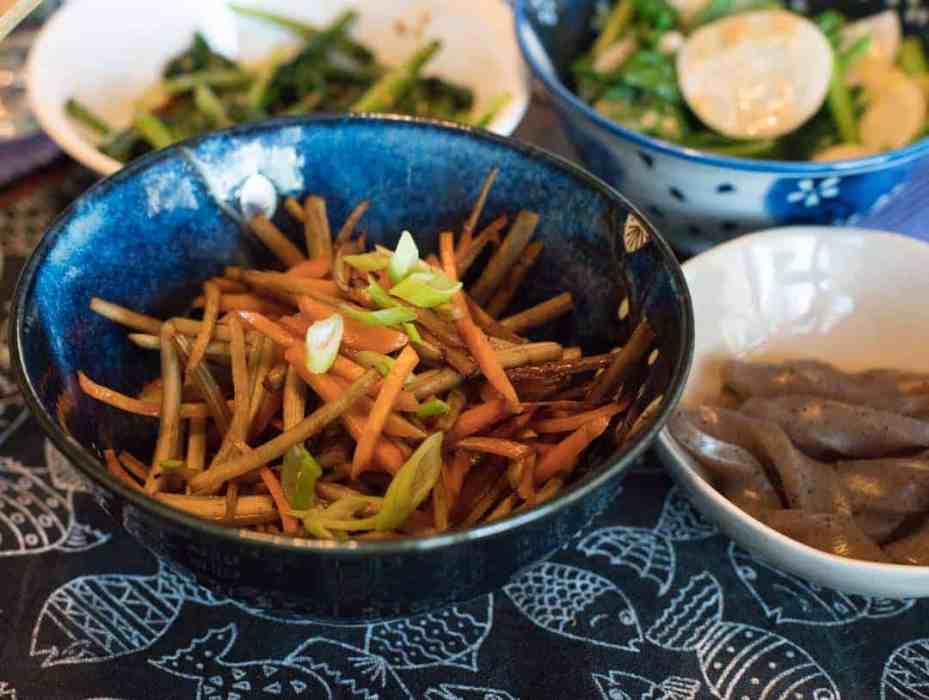photo of kinpira root vegetable dish