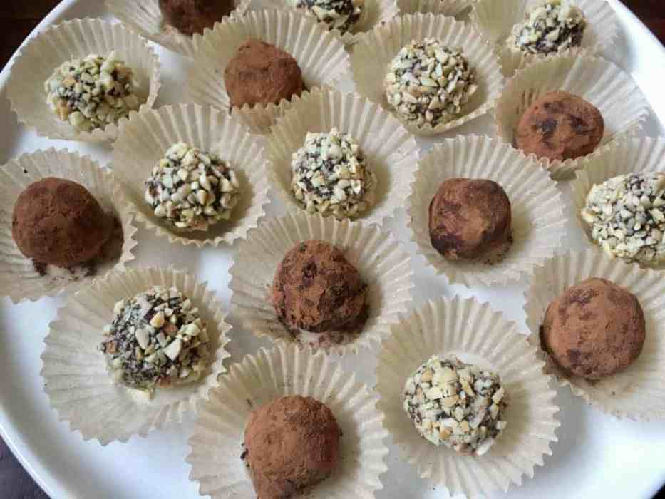 chocolate almond butter truffles