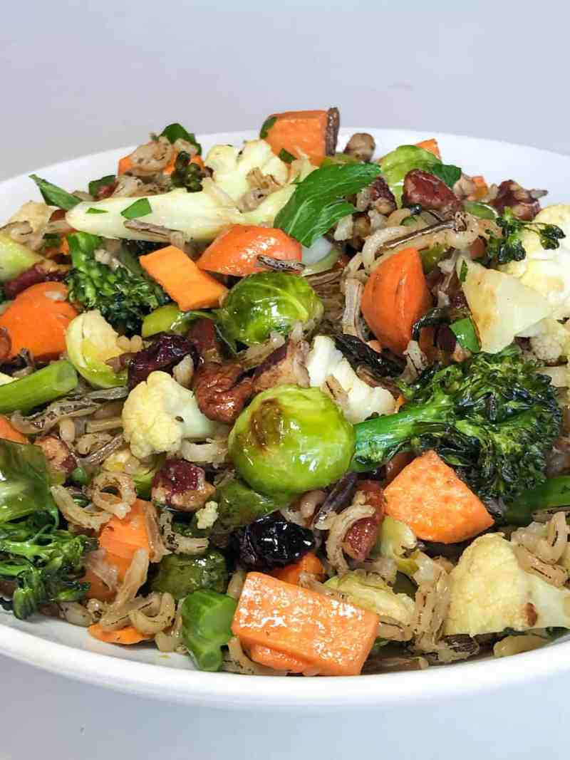 wild rice pilaf wth roasted vegetables