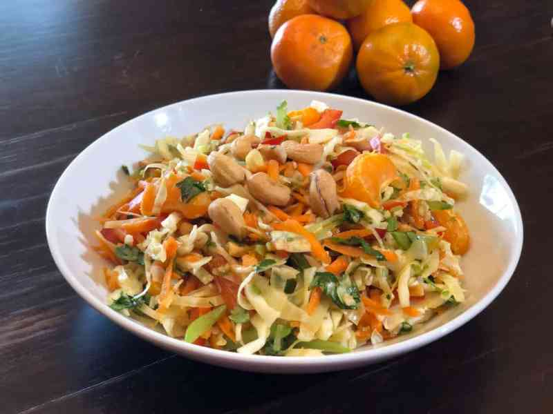 Colorful Sesame and Ginger Asian Slaw • Cook Love Heal by Rachel Zierzow