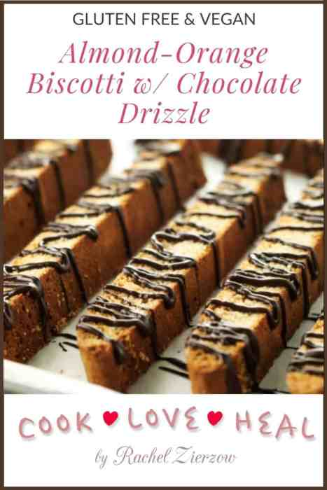 Gluten Free Biscotti with Chocolate Drizzle • Cook Love Heal by Rachel Zierzow