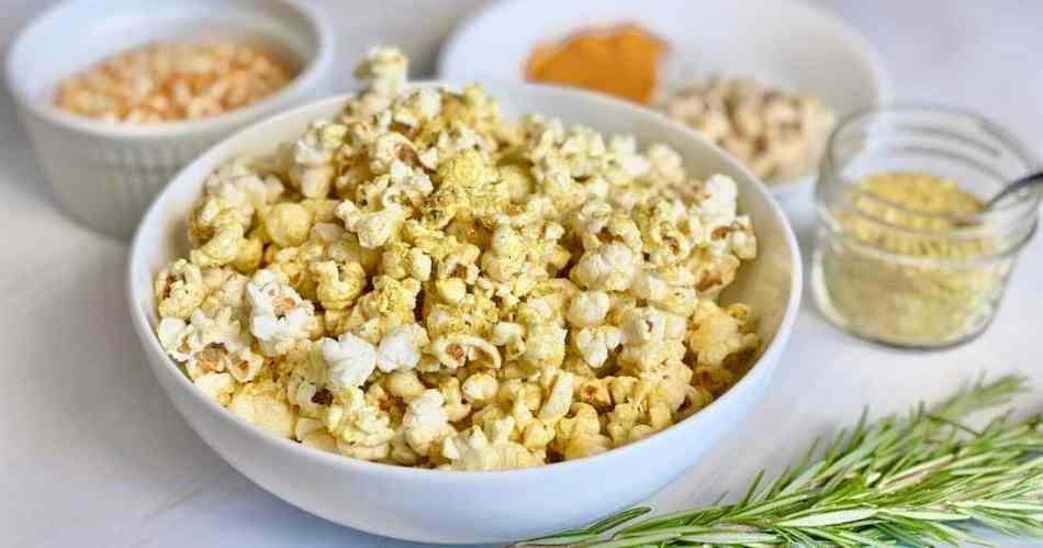 Homemade Popcorn with Vegan Parmesan •Cook Love Heal by Rachel Zierzow