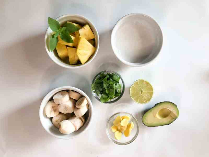 Soothing Pineapple & Green Banana Smoothie •Cook Love Heal by Rachel Zierzow