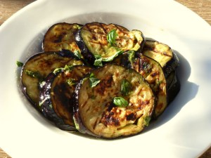 Low FODMAP Barbecued Aubergine Slices