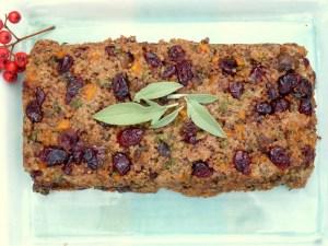 Quinoa festive stuffing, vegetarian