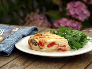 Pastry-less quiche, gluten free, low fodmap