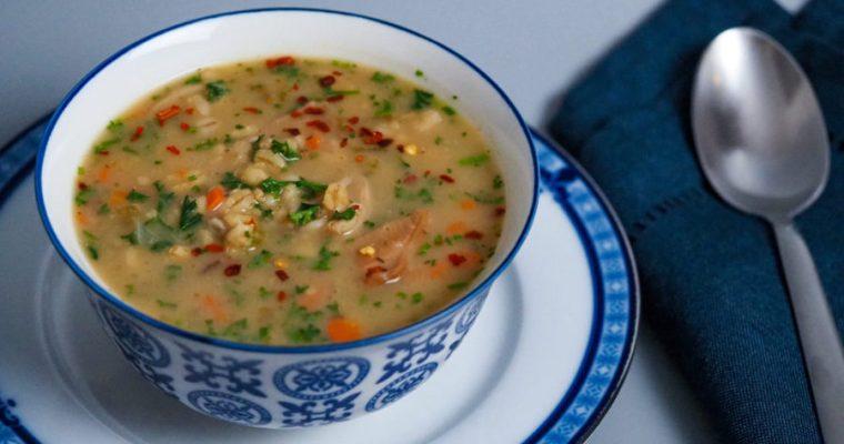 Wheat, barley -oat blend and mushroom soup