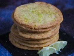 Thin-crispy lemon cookies