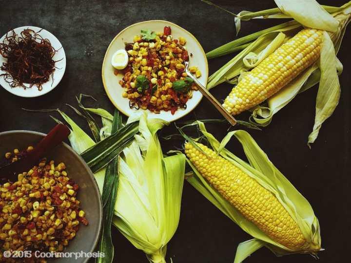 sauteed corn (bap xao bo)