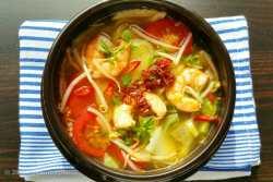 Hot & Sour Shrimp Soup Canh Chua Tom