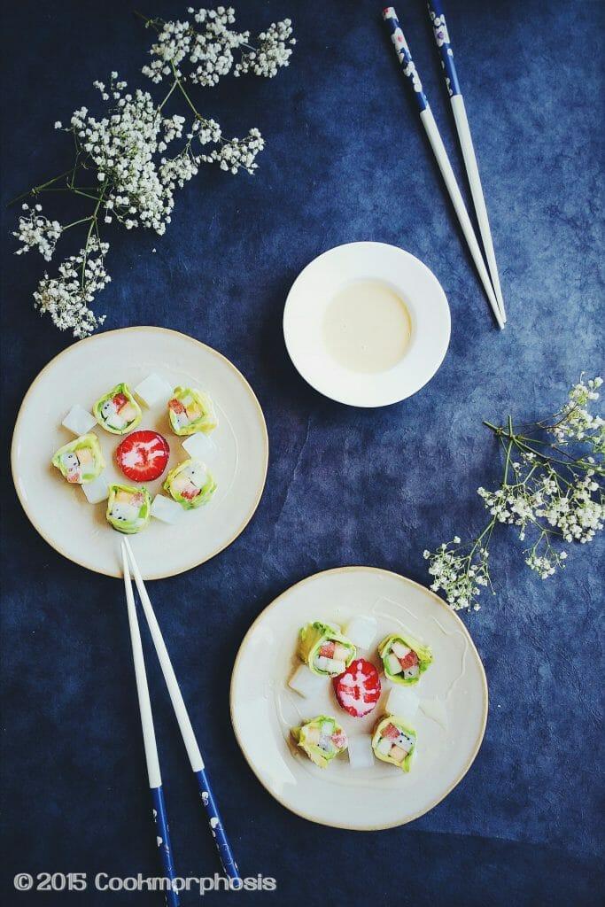 fresh fruit sushi roll