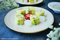 Summer fruit roll