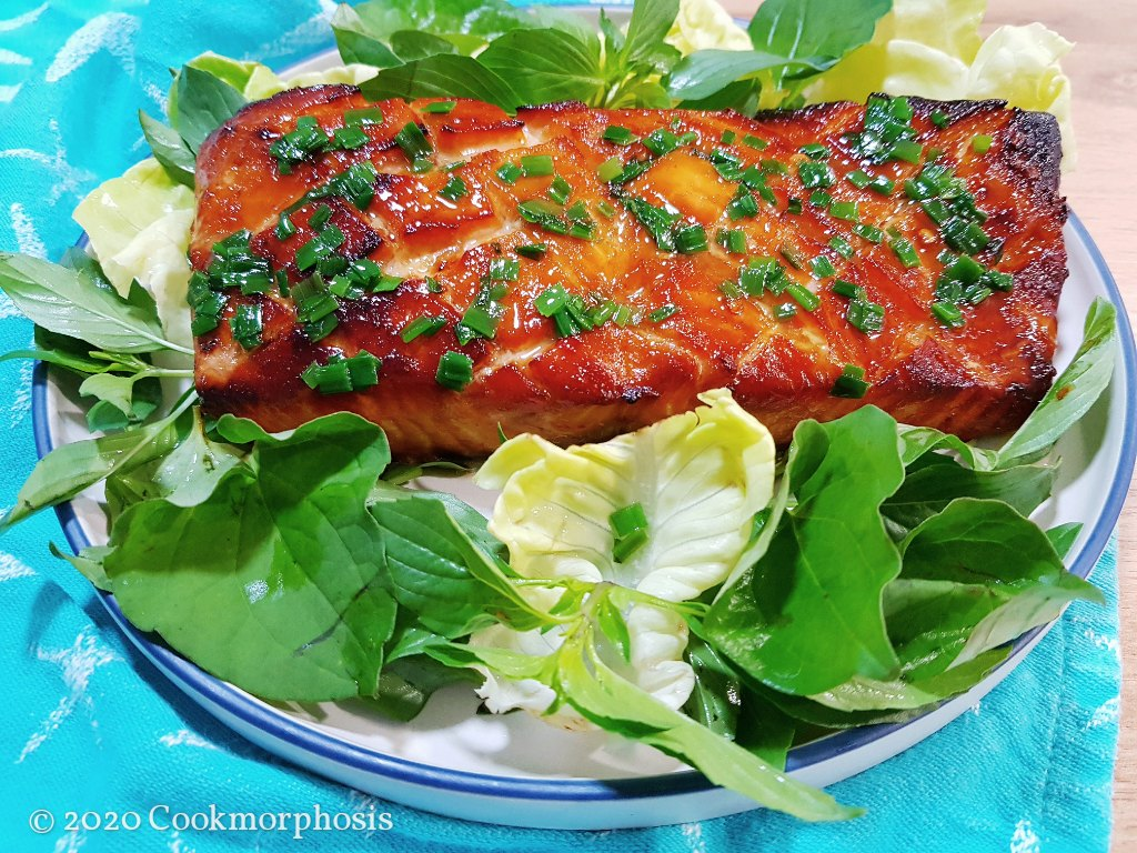delicious grilled salmon