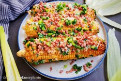 Grilled corn with spam recipe (elote)