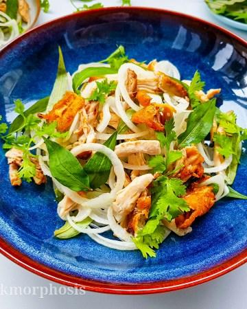 grilled cajun chicken salad with fish sauce vinaigrette