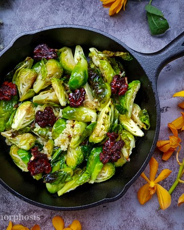Brussels sprout sauteed in garlic butter
