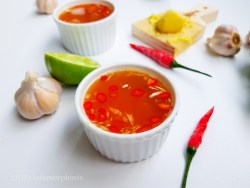 Ginger garlic fish sauce with lime juice