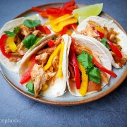 best leftovers food recipe made into cajun tacos topped with bell peppers