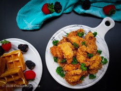 Cajun Fried Chicken and Waffles