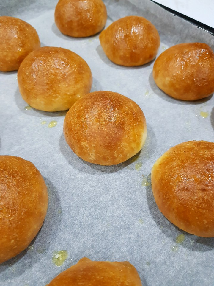 Butter parker house rolls or parker house dinner rolls