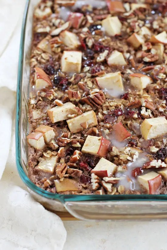 Spiced Cranberry Apple Bake Oatmeal