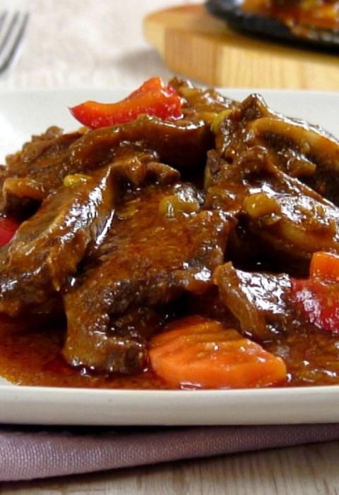 beef ribs caldereta