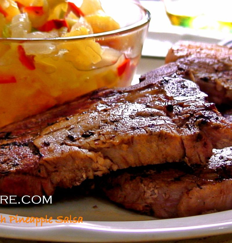 porkchops with pineapple salsa