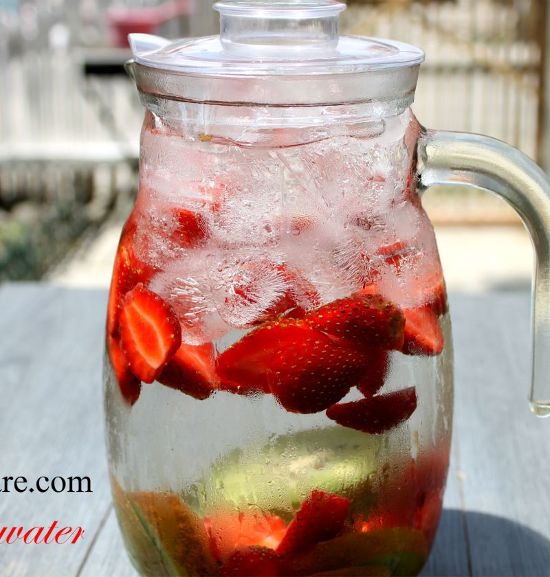 Strawberry and kiwi infused water