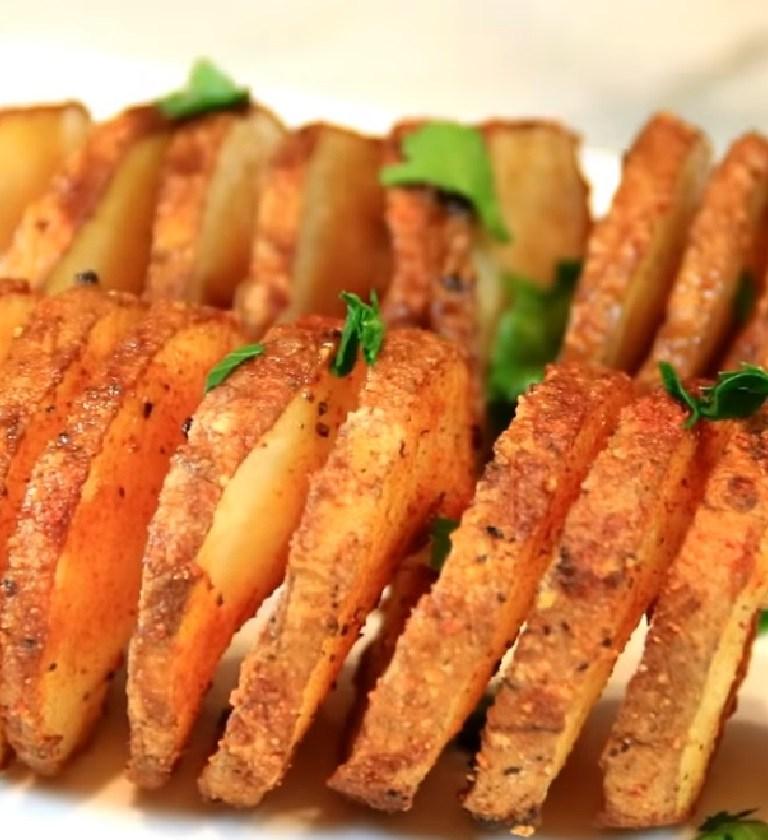 spiral bake potatoes