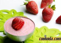 پودینگ توت فرنگی | Strawberry Pudding