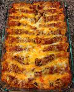 beef enchiladas with homemade mexican red sauce