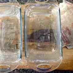 buttered loaf pans