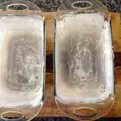 buttered and floured loaf pans