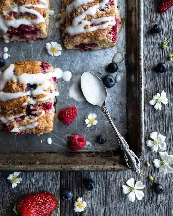 Triple Berry Creme Fraiche Scone recipe