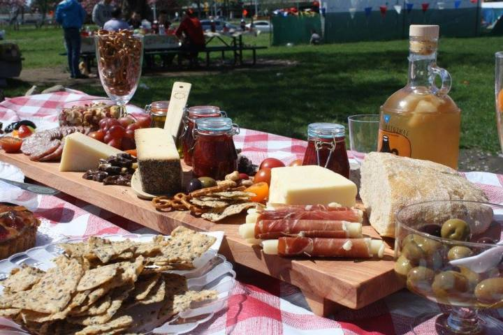 Birthday Picnic: cheeseboard, strawberry fig jam + poem(s)