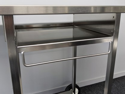 Australian made Stainless BBQ Trolley with utensil rail
