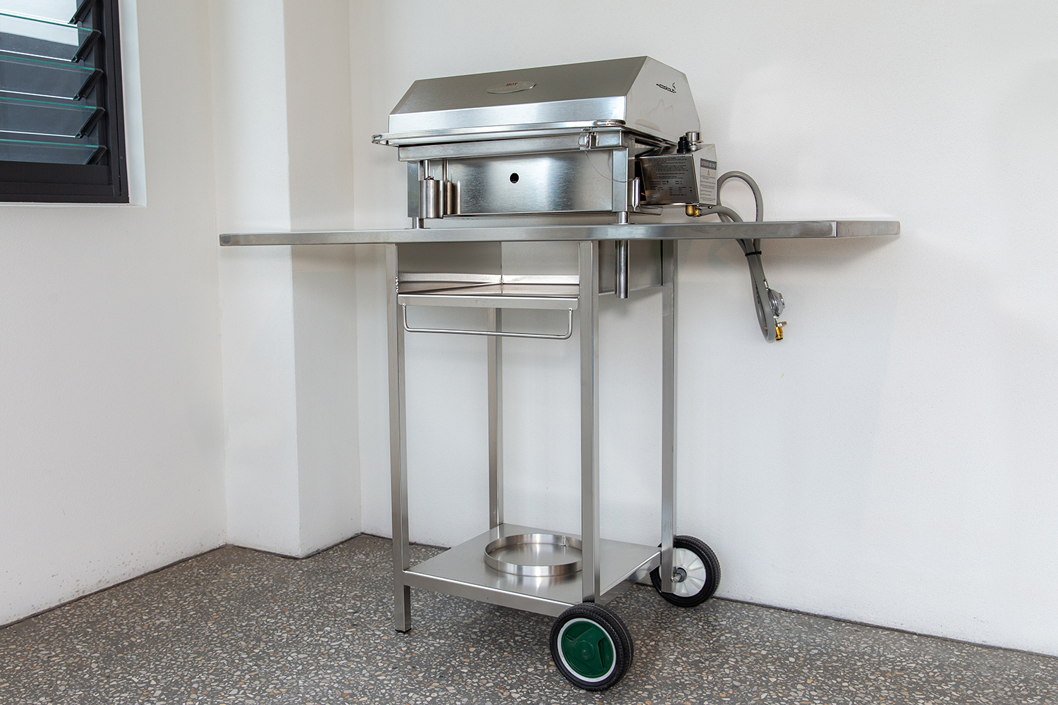 Stainless Steel BBQ Trolley on wheels