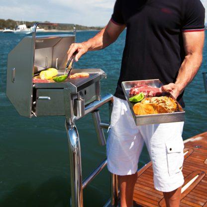 316 marine grade stainless steel boat bbq and utensil tray Australia