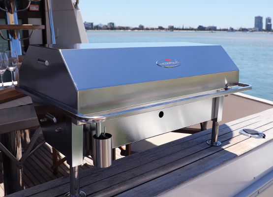 Deluxe electric marine, boat stainless BBQ Australia