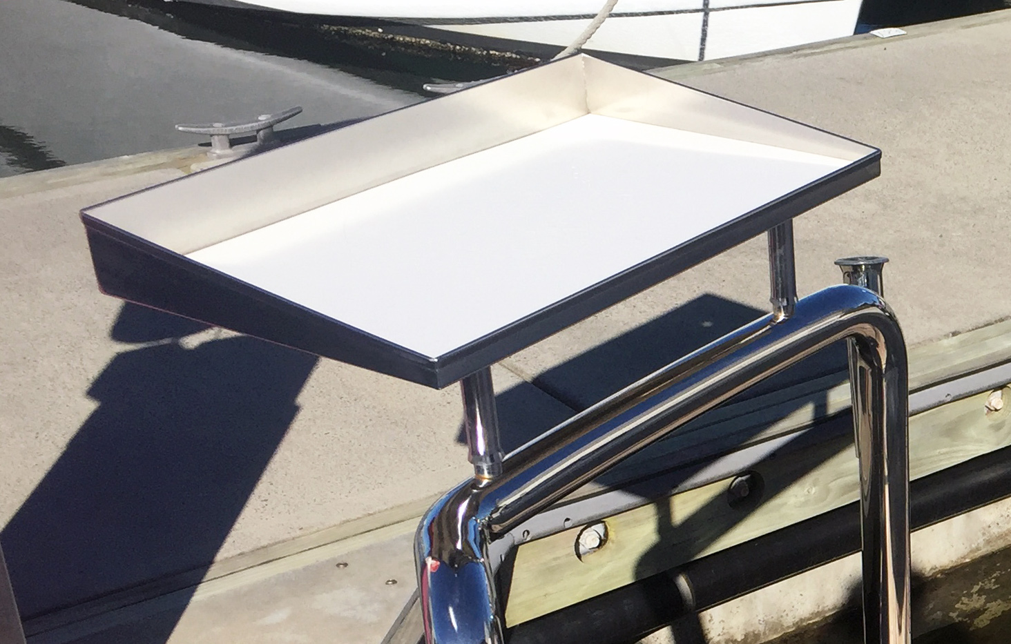 Sheet stainless bait board