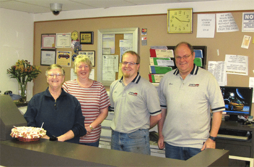 Sandy Stainer(Office Manager), Linda Cook(Parts and Payables), Jéan Richard(General Manager), Steve Cook(Owner/President)