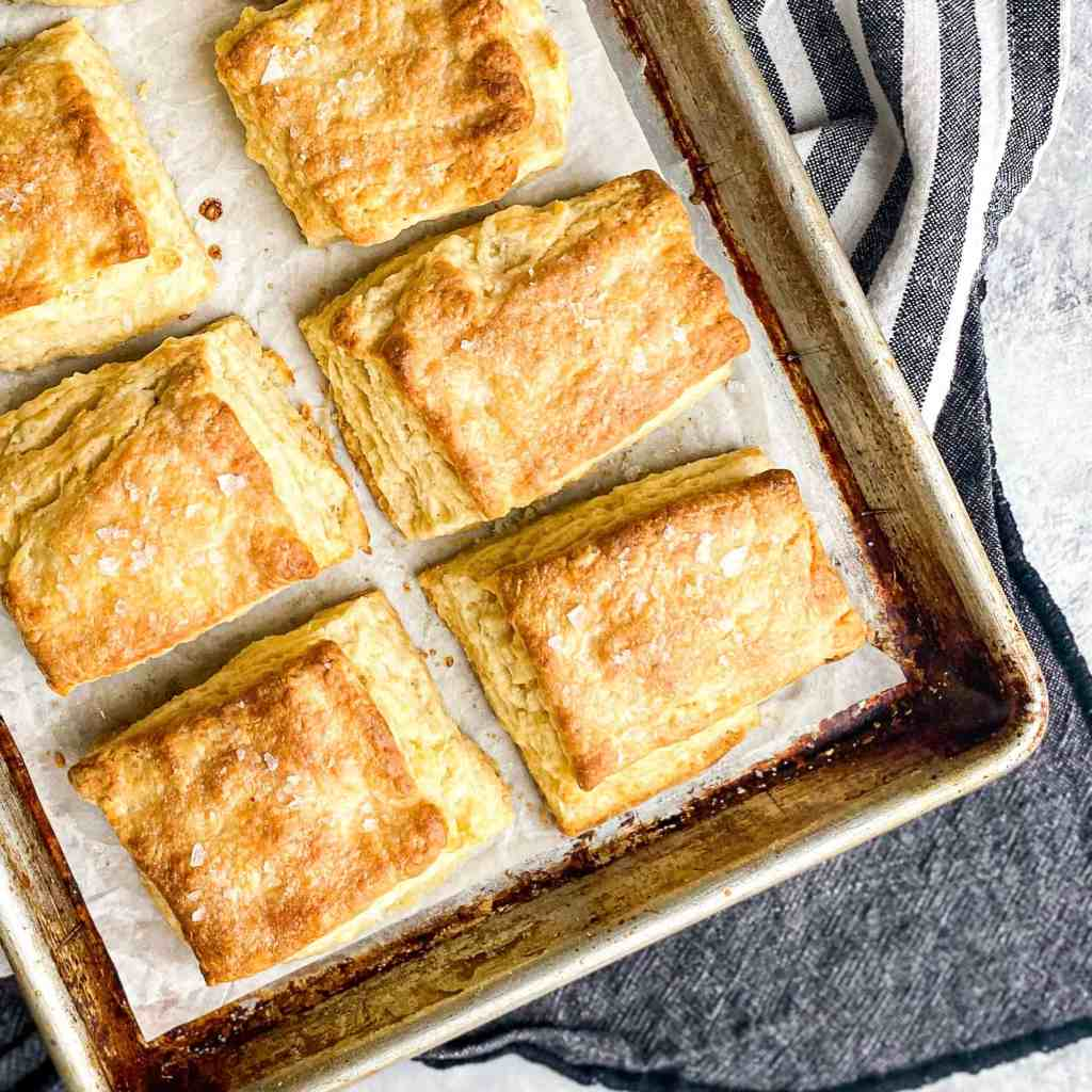 Sheet pan with Buttermilk Biscuits