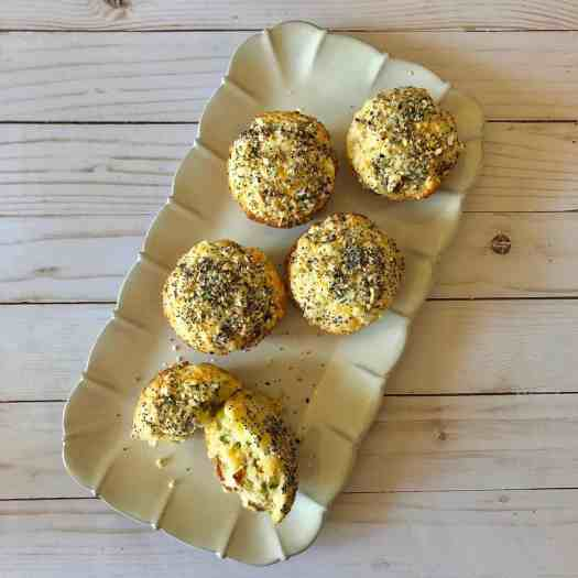 muffins on tray jalapeno corn