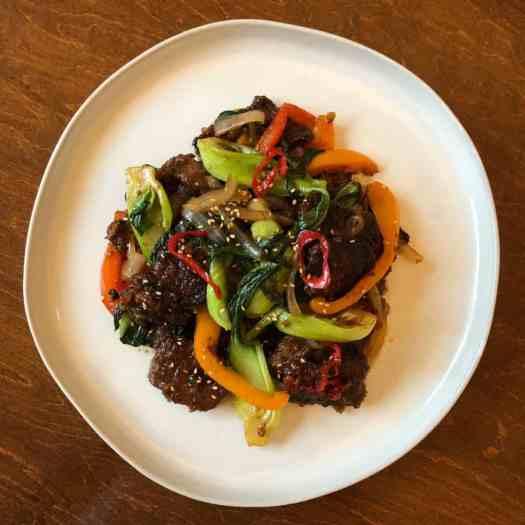 crispy beef and bok choy stir fry beijing beef