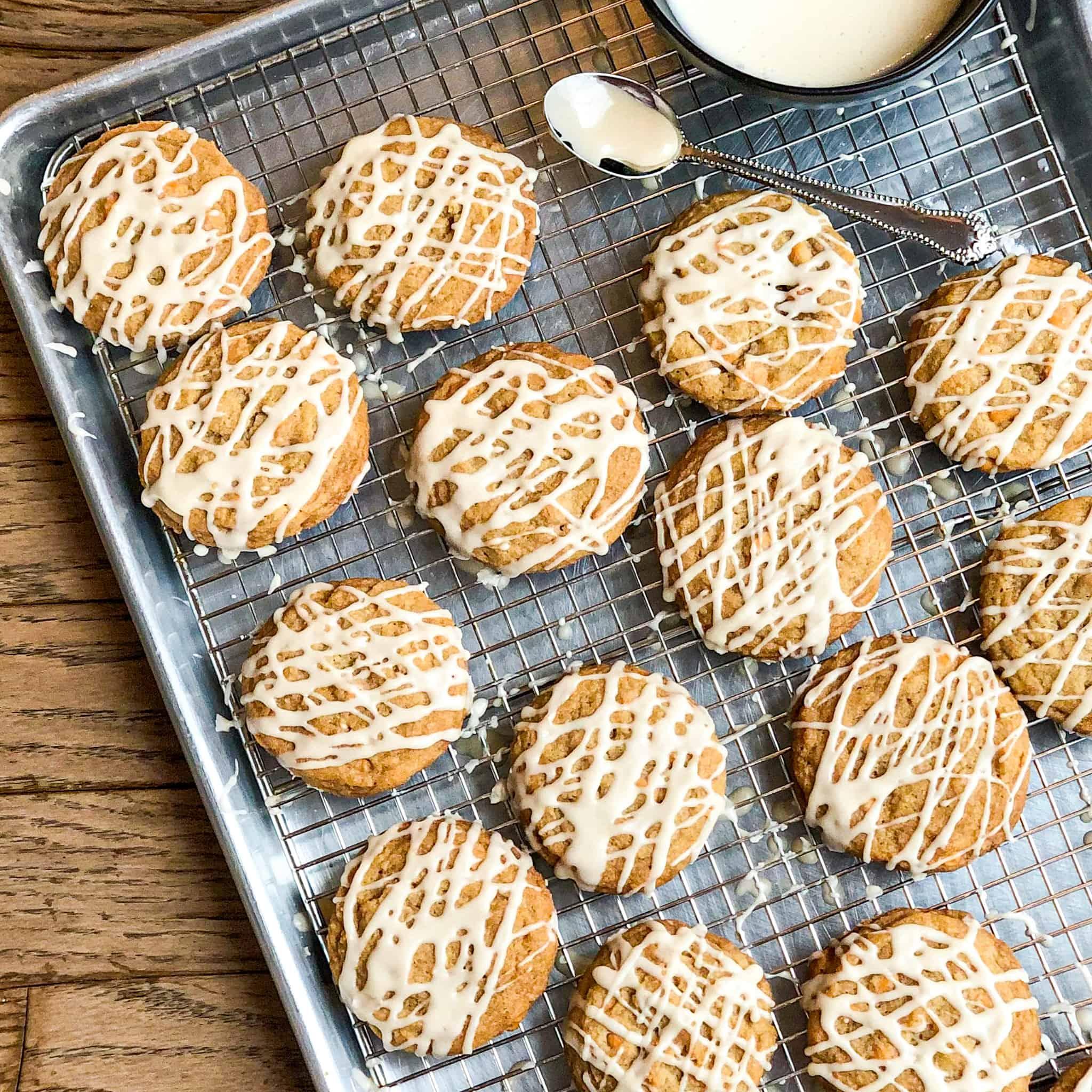 Glazed Maple Butterscotch Cookies