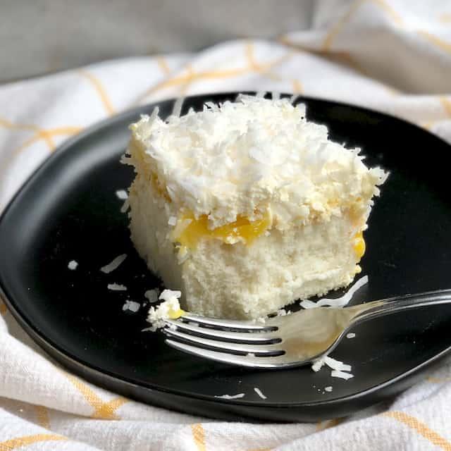 Coconut Cloud Cake with Lemon Curd
