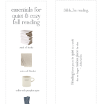 Are you a homebody? These cute & free bookmarks are for you!